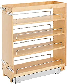 Rev-A-Shelf 448-BC-8C Base Cabinet Pullout Organizer w/Wood Adjustable Shelves
