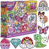 JOYIN Klever Kits Big Gem Diamond Painting Kit Create Your Own 18 Magical Stickers 3 Suncatchers 2 Keychains Diamond Art for Kids Creativity DIY Paint Arts Supplies