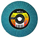 Forney 71924 4 1/2' Double-Sided Flap Disc, 60/120 Grits