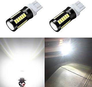 Alla Lighting 2800lm 7440 7443 LED White LED Bulbs Xtreme Super Bright T20 7440 7443 LED Bulb 5730 33-SMD LED 7443 Bulb for Back-Up Reverse/Turn Signal/Brake Stop Tail Lights, 6000K Xenon White
