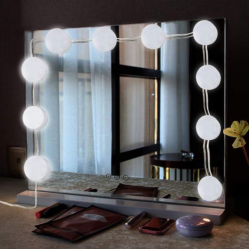 マンモスロックチャネルSacow ミラーLEDライト メイクアップミラー装飾ライト 10電球
