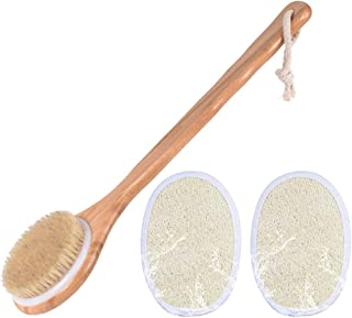 SUPVOX Cepillo de Cuerpo de Baño de Mango Largo para Cepillo de Baño de Cerdas de Cepillado en Seco O Húmedo Y Cepillo de ...