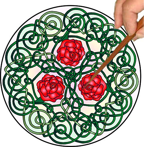 Ravensdaughter Designs Celtic Roses Mandalynth: Mindfulness Art for Stress, Anxiety and Attention Management
