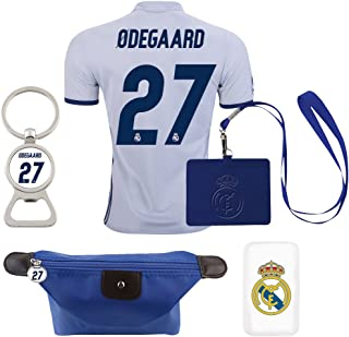 #27 Odegaard (6 in 1 Combo) Real Madrid C.F. Home Adult Soccer Jersey 2016-2017