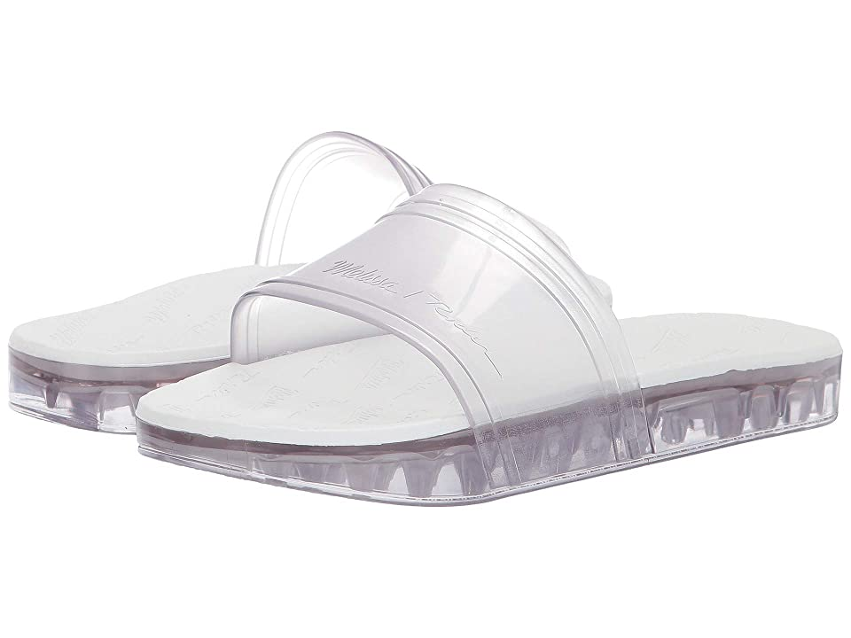 + Melissa Luxury Shoes x Rider Slide Flat Sandal  Clear