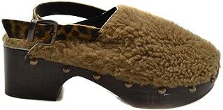 Luxury Fashion | Avec Moderation Women MCBI39448 Beige Leather Wedges | Season Outlet