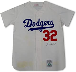 Sandy Koufax Authentic Hand Signed Auto Mitchell N Ness Jersey STAINED JSA Lettr