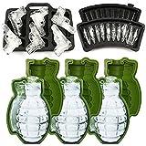 moldfunYCZ 3D Grenade Ice Ball Formen & Pistole Gun + Eiswürfelform Bullet AK47-Tabletts - Set von...