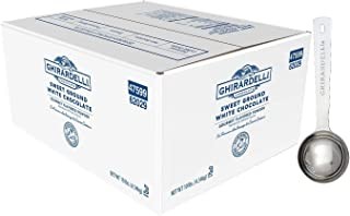 Ghirardelli - Sweet Ground White Chocolate Flavored Gourmet Powder Beverage Mix, 10 Pound Box - with Limited Edition Measuring Spoon