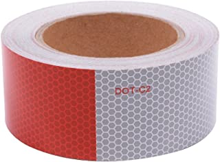 DOT-C2 Safety Tape Reflective Tape Auto Car Red And White Adhesive Ultra Bright Honeycomb Polygonal Reflective Strip(2