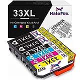 HaloFox 33XL Tintenpatronen für Epson Expression Premium XP-530 XP-540 XP-630 XP-635 XP-640 XP-640 XP-645 XP-830 XP-900 Drucker (6 Pack)