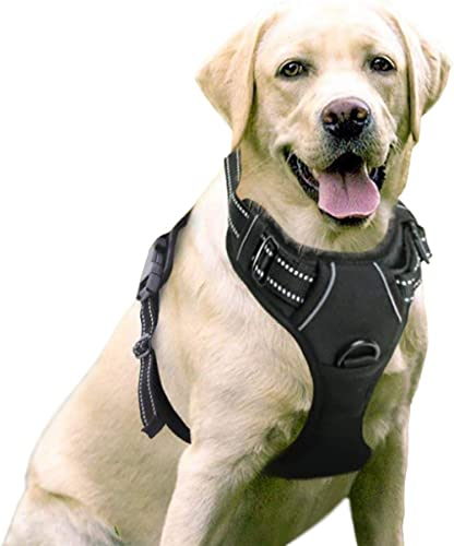 WapaW Dog Harness No-Pull Pet Harness Adjustable Outdoor Pet Vest 3M Reflective Oxford Material Vest for Dogs Easy Co...