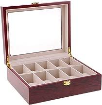 Baoblaze Watch Box Men Women - 10 Slot Luxury Solid Wood Display Case, Large Holder