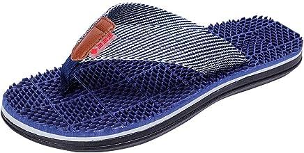 d72281471db Men Beach Shoes HOSOME Men s Casual Flat Flip Flops Slippers Outdoor  Massage Shoes