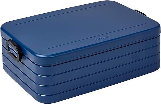 Mepal Take a Break XL – Nordic Denim – 2000 ml Inhalt – Lunchbox mit Trennwand – für bis zu 10 Butterbrote – spülmaschinenfest, ABS, One Size