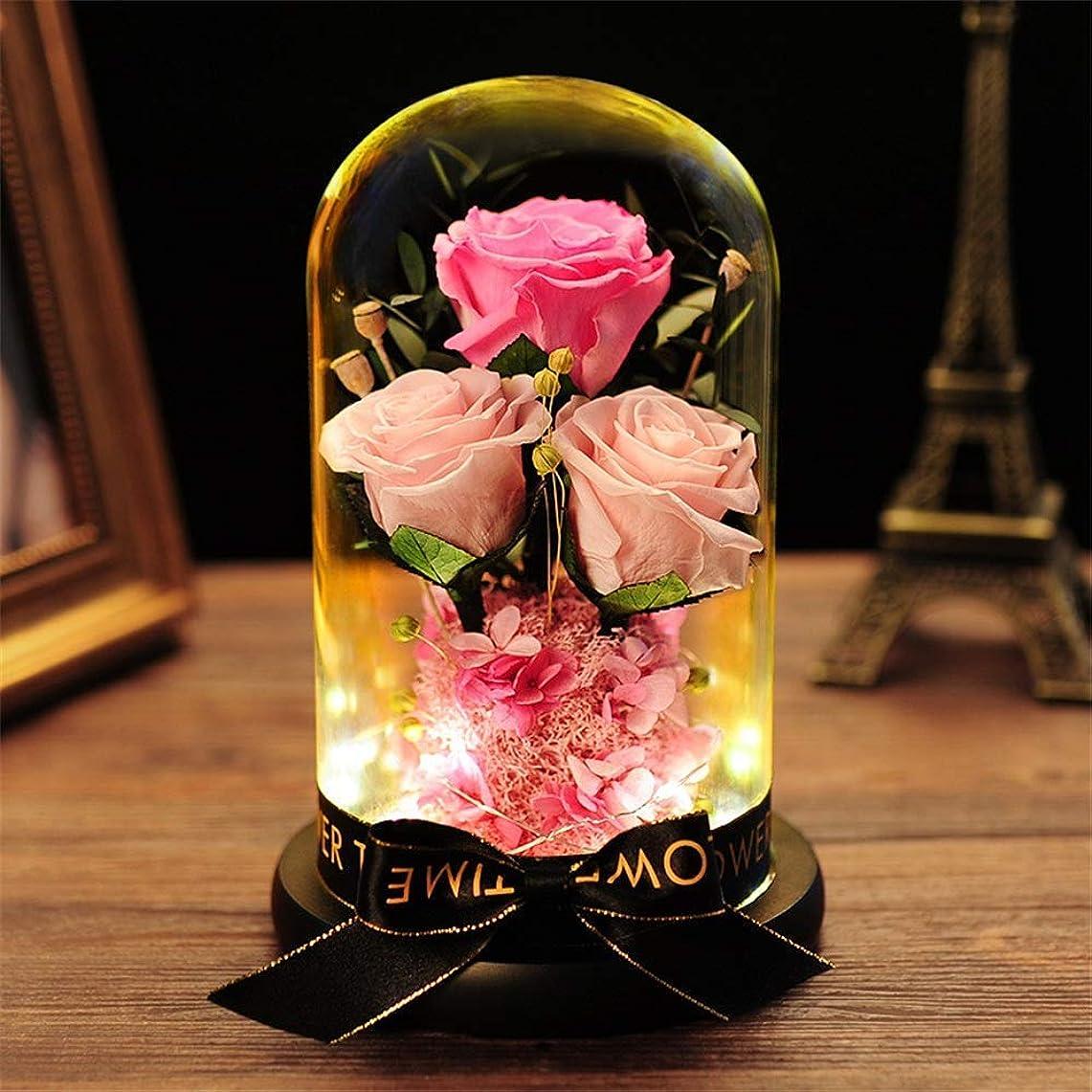 宝ポスター依存HUYYA 保存花プリザーブドフラワー、本物のバラで永遠の花ガラスドーム枯れない花 生花 フラワーアレンジドライフラワー エターナルローズバレンタインデークリスマス記念日誕生日プレゼント,Pink_14.5x23.5cm