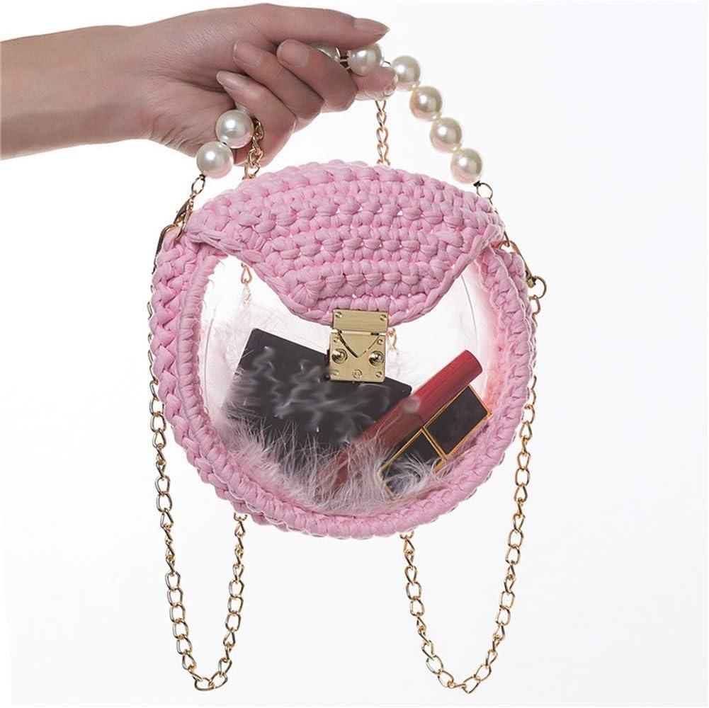 Lihuzmd Handbag Transparent Acrylic DIY Ladies Philadelphia Mall sale Be Hand-Woven Bag