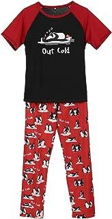 Christmas Family Matching Pajamas Set Penguin Long Nightwear Homewear 2Pcs