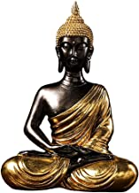 Flameer Seated Buddha Statue Buddhism Thai Meditating Home Garden Decorative Sculpture Praying Collectibles Figurines for ...