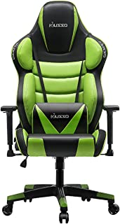 Musso Big & Tall (Green) Gaming Chair Adults Racing Computer Gamer Chair with Fully Foam, Esports Video Game Chair, PU Leather Executive Office Chair with Lumbar Support
