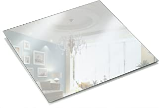 Light In The Dark Square Mirror Plate - Set of 12 Square Mirrors Trays - 8 inch x 8 inch, 1.5 mm Thick - Perfect for Table...