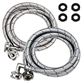 Best Washer Hoses - Beaquicy Washer Stainless Steel Hoses with 90 Degree Review