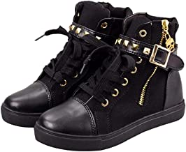 Shoes For Women, Clearance Sale !! Farjing Fashion High-Top Solid Zip Sneakers Flat Canvas Shoes