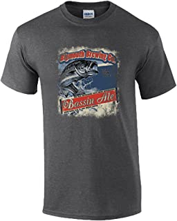 BigMouth Brewing Co Bassin Ale Funny Fishing Adult T-Shirt