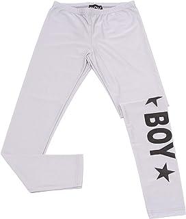 BOY LONDON 7769Y Leggings Bimba Girl Pantaloni Silver Grey Trouser