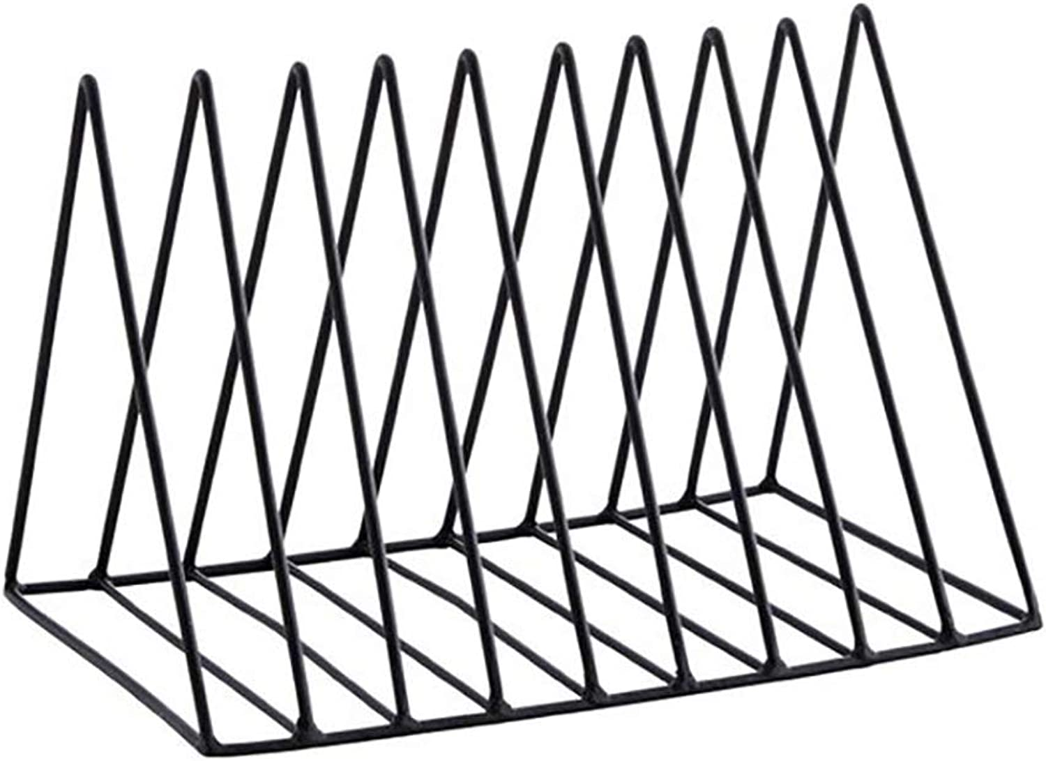 Desktop Bookshelf Iron Magazine Rack Creative Modern Desktop File Storage Rack -9 Grid == (color   Black)
