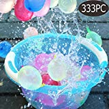 integrity.1 Paquete de 333 Globos de Agua de llenado rápido Autosellante Bomba de Agua Verano Splash Fun Pelea de Agua Juego para niños y Adultos
