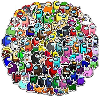 HANT 100Pcs/Pack Among Us Sticke , Among Us Fandom Crewmate Game Stickers for Computer, Laptop, Phone, Travel Luggages, Mo...