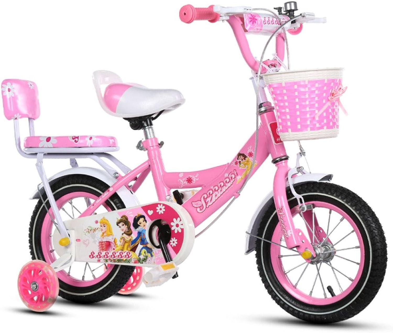 QXMEI Fahrrad Kinder 2-3-4-6-7-8 Jahre Alt Jungen Und Mdchen 12-14-16-18 Zoll Kinderfahrrder,D(18Inches)