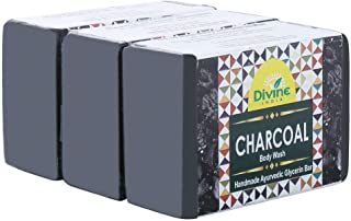 Divine India Charcoal Soap, 125 g (Pack of 3)