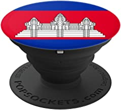 Cambodia Flag PopSockets Grip and Stand for Phones and Tablets