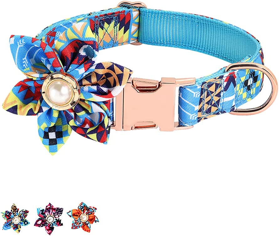 SunteeLong Girl Dog Collars with Flower Coll Ranking TOP20 Detachable Cute Max 59% OFF
