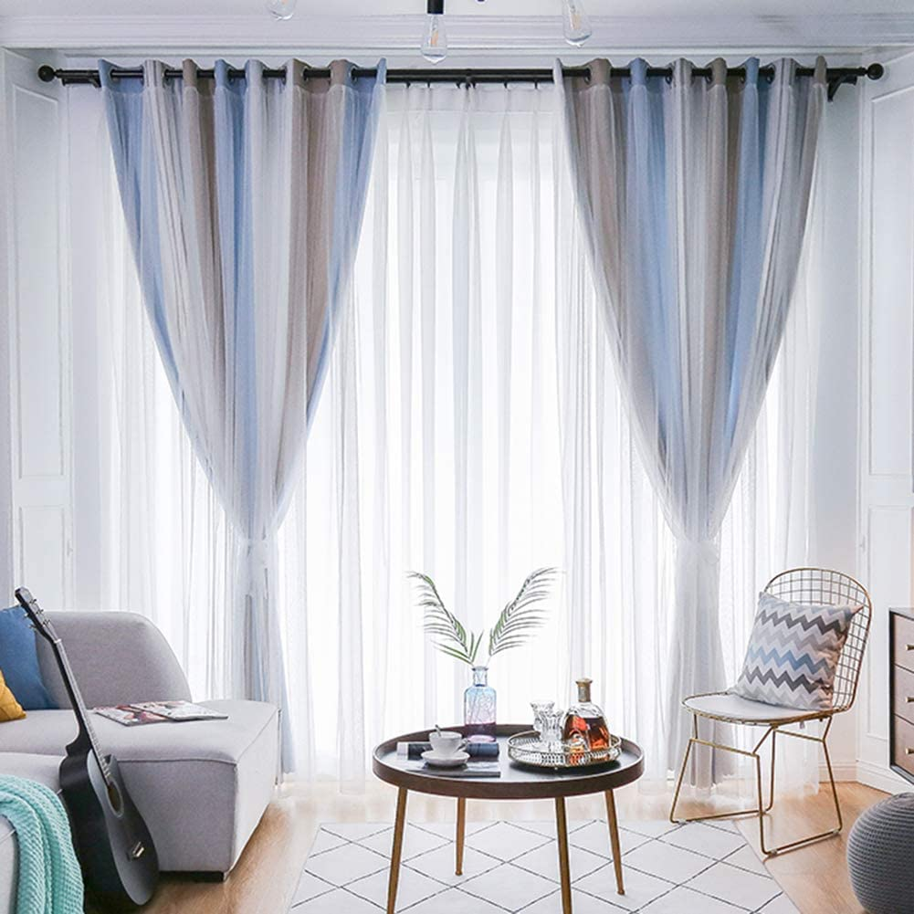 Multicolour Blackout Curtains Max 53% Portland Mall OFF Mix Cut Eyel with Out Star Drapery