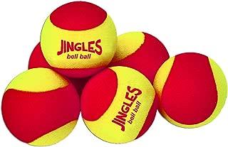 Oncourt Offcourt Tennis Jingles Bell Balls Set - Softball Sized Foam Balls/Make Noise Upon Contact