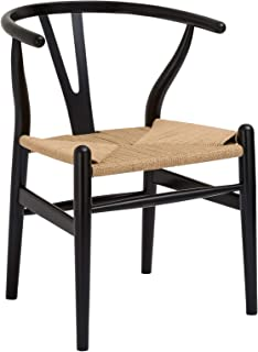 Poly and Bark Weave Chair in Black