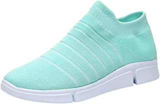 CUCAMM Booties for Women, Ladies Fashion Girls Solid Striped Ankle Sport Run Sneakers Casual Shoes