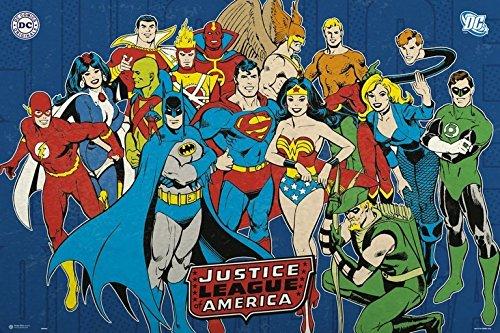 Grupo Erik Editores Poster Dc Comic Justice League America Dcjlc