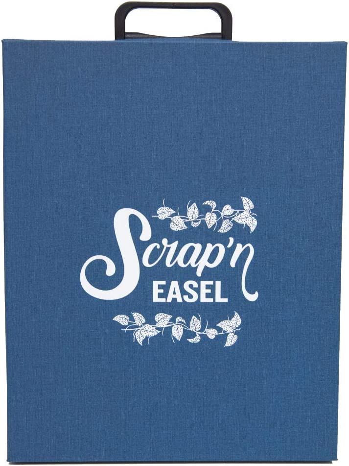 ContainYaCrafts Sale Special Price Scrap N' Easel Carrying Tote Sale special price Case Blue Storage