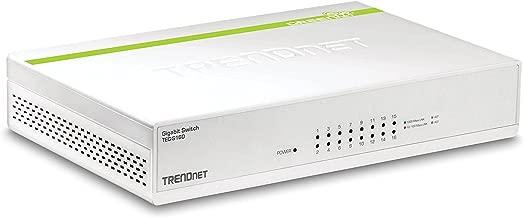 TRENDnet 16-Port Gigabit GREENnet Switch, Polycarbonate, QoS, 32 Gbps Switching Fabric, Fanless, Plug & Play, Half & Full Duplex, TEG-S16D