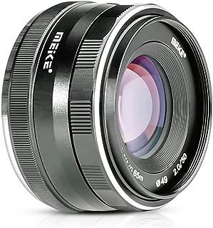 Meike 50mm f/2.0 Large Aperture Manual Focus MFT M4/3 Lens APS-C for Micro 4/3 System Olympus Panasonic Lumix Mirrorless Cameras