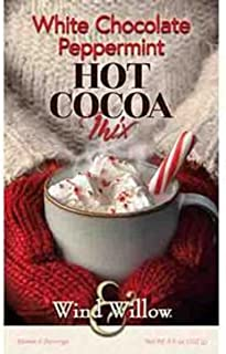 Wind & Willow - White Chocolate Peppermint Hot Cocoa Mix - 4.6 Ounces - Makes 4 Servings