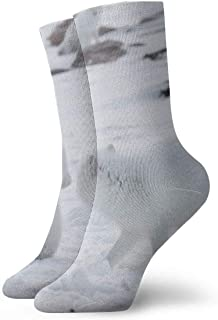 tyui7, Ice Cold Polar Bear Calcetines de compresión antideslizantes Cosy Athletic 30cm Crew Calcetines para hombres, mujeres, niños