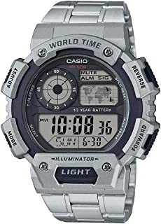 Casio G-Shock Silver Rubber Casual Watch For Men - AE-1400WHD-1AVDF