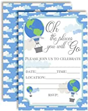 Oh The Places You Will Go Adventure Themed Birthday Party Invitations, 20 5