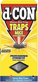 d-CON Rodenticide Rodent Mouse Glue Traps, 4 ct(Pack of 6)