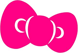 Hello Kitty Bow Car Decal/Sticker - Hot Pink